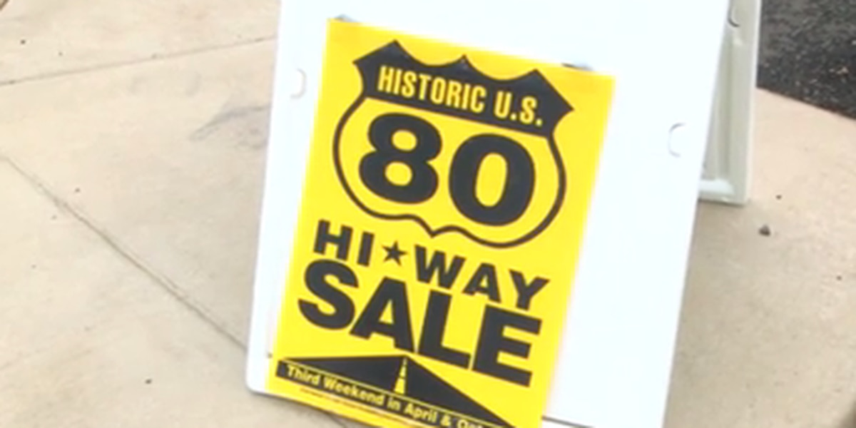 Few vendors brave weather for highway 80 garage sale