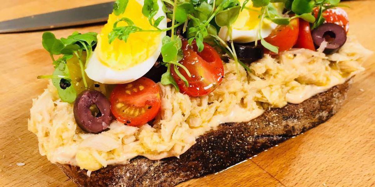 Nicoise toast by Chef Anne Kelt, Hick & Frog Bistro