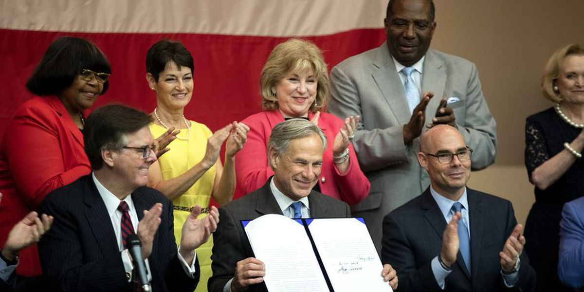 Gov. Greg Abbott signs $11.6 billion school finance measure into law