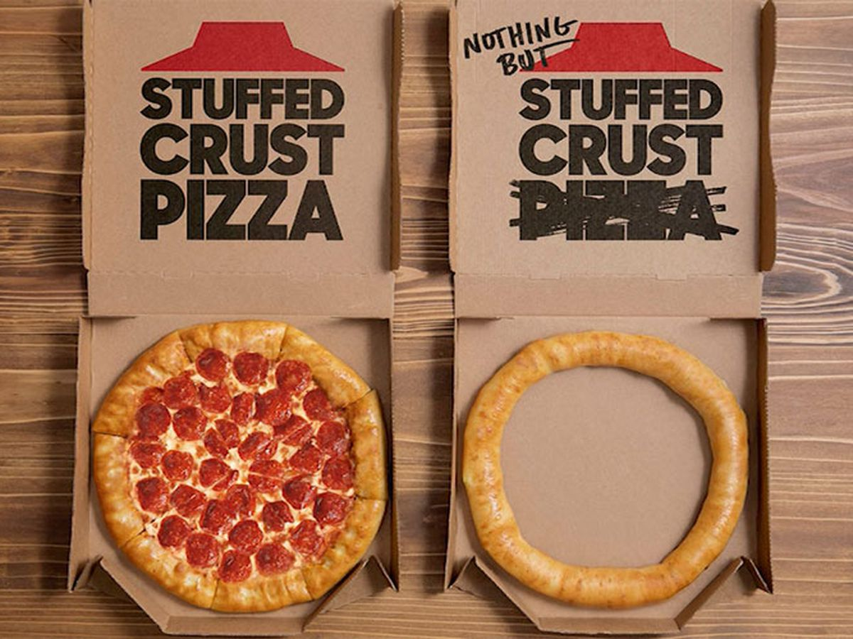 Pizza Hut's 'Nothing but Stuffed Crust' available at select locations