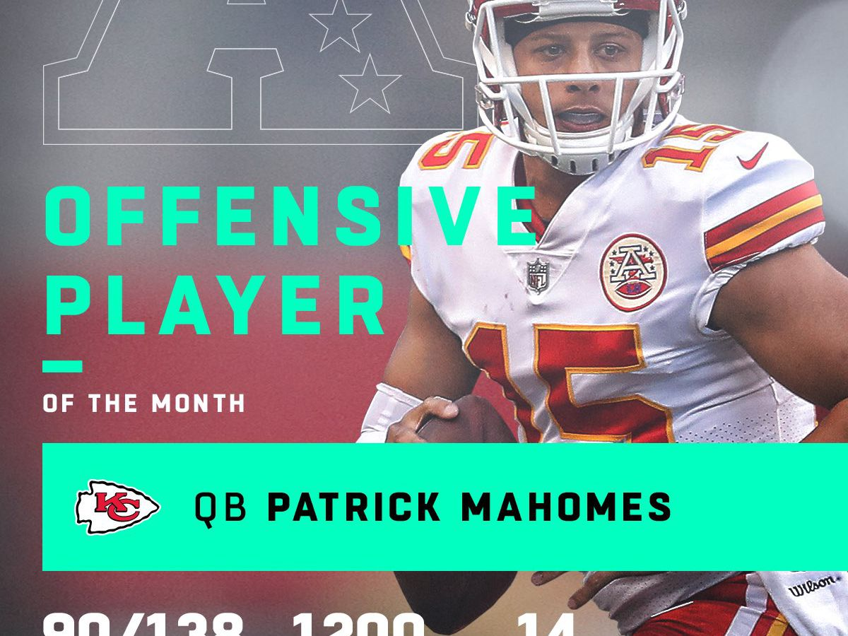 Mahomes, Watt headline NFL player of the month honors