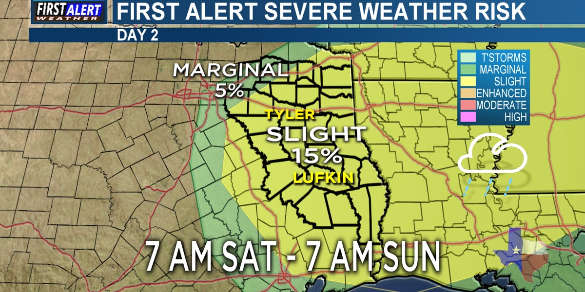 First Alert Weather Day in effect for Saturday