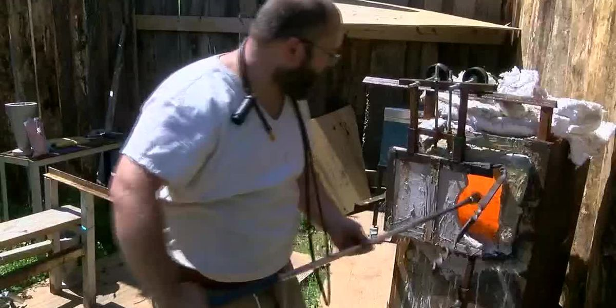 Glass blower makes first visit to Avalon Faire in Gregg County