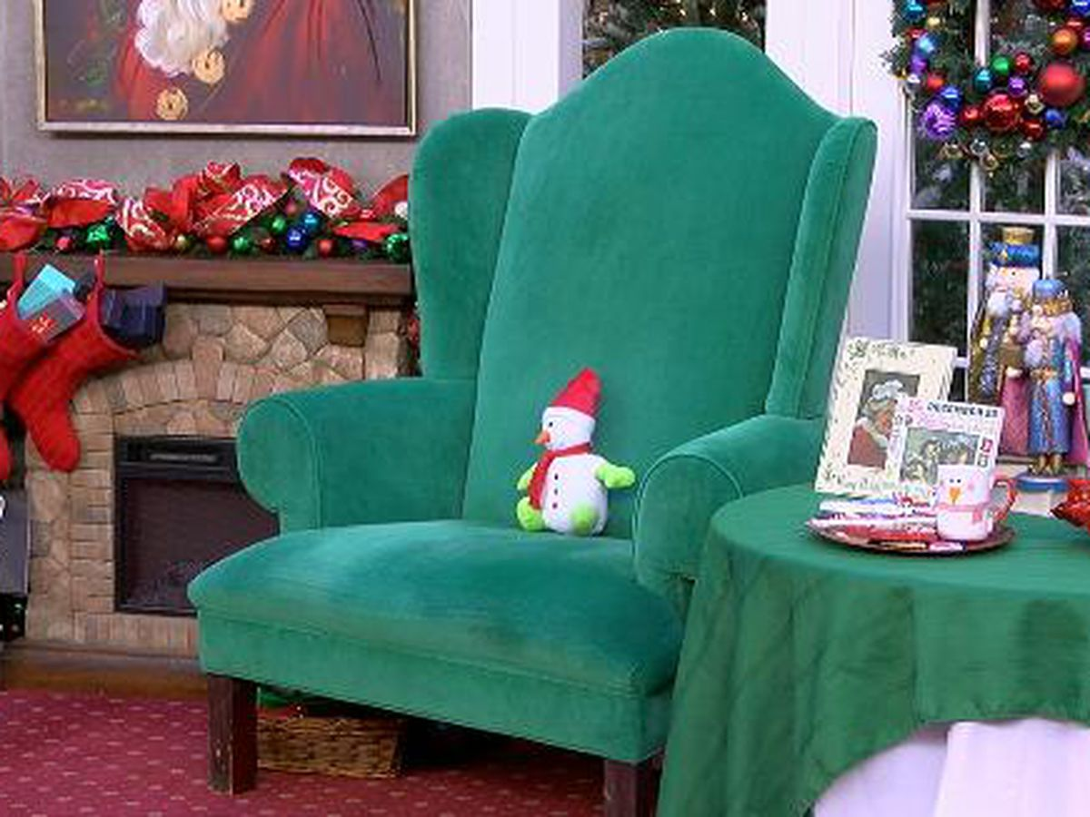 The Big Green Chair has been there for decades of Christmas wishes