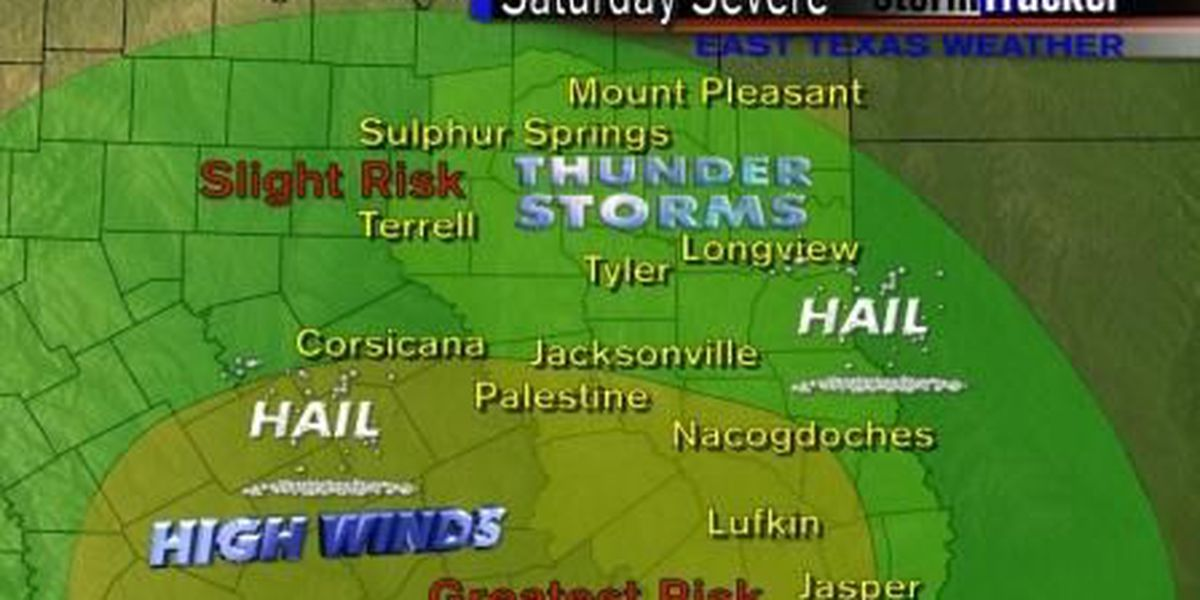 Severe Weather Possible On Saturday