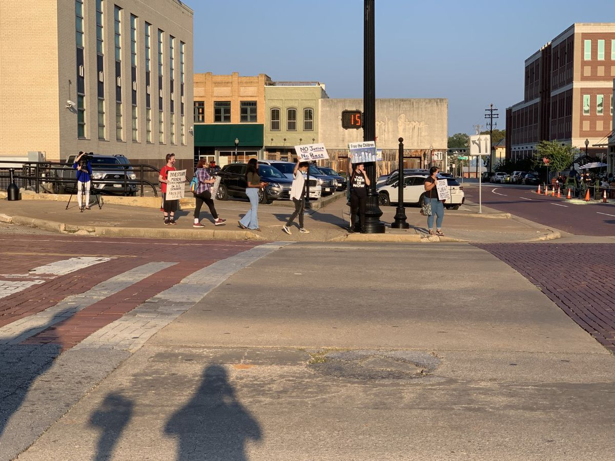I.C.E protest in downtown Tyler