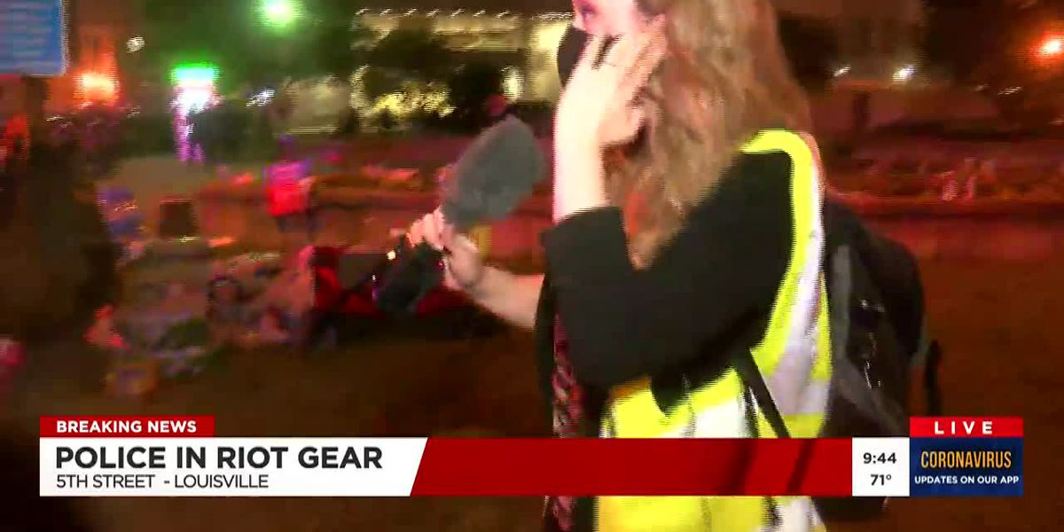 LMPD officer fires pepper balls at WAVE 3 News reporter, photographer during Louisville protest