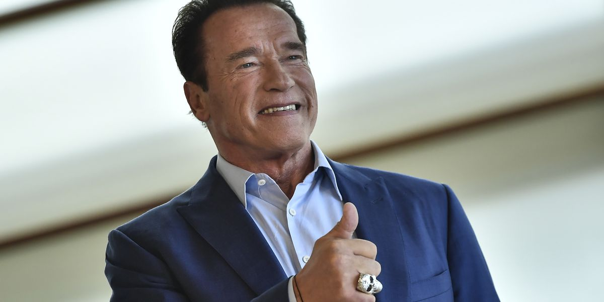 Arnold Schwarzenegger fine after 'idiot' kicks him at event