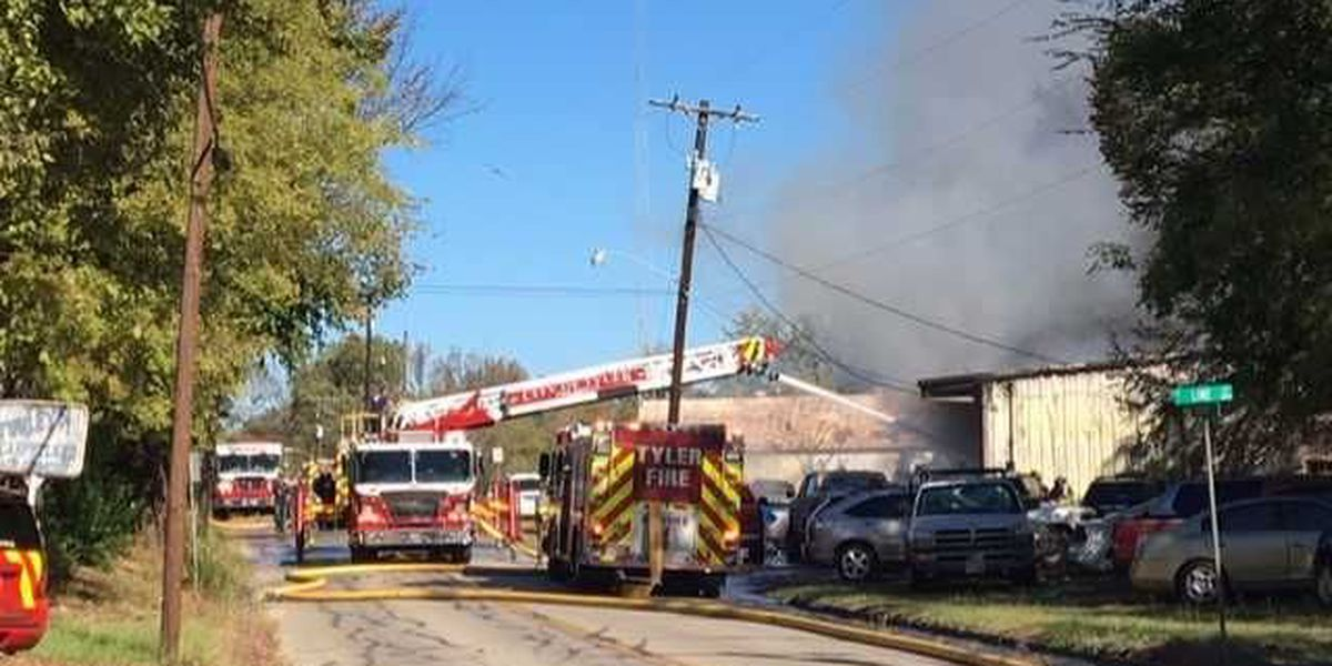 Neighbors heard explosions when mechanic shop went up in flames