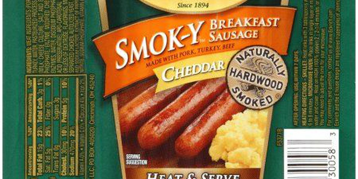 Armour Eckrich Meats recalls ready-to-eat sausage products that may contain metal pieces