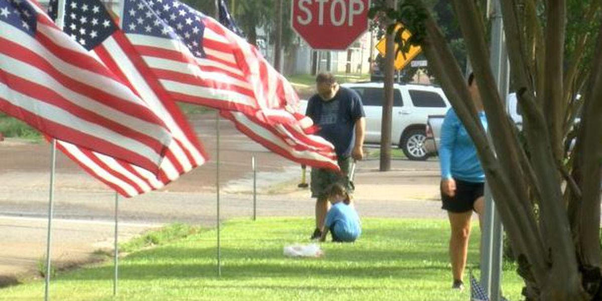 WEBXTRA: Symbols of patriotism at Memorial Park in Winnsboro to honor those who served