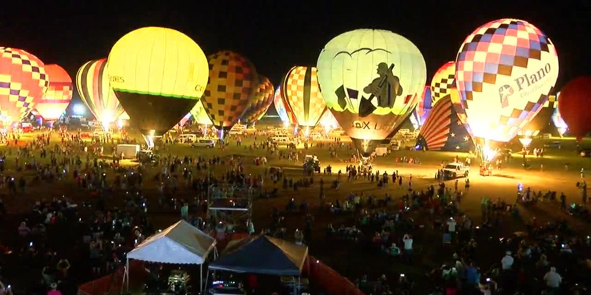 VIDEO: Friday balloon glow at Great Texas Balloon Race