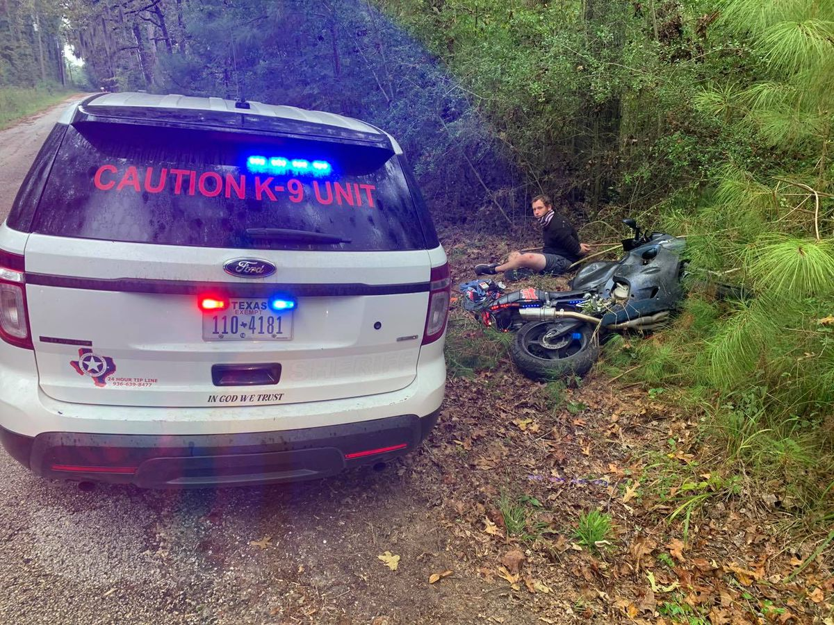 Trinity County sheriff: Motorcyclist led deputies on high-speed chase, played 'chicken' with patrol unit