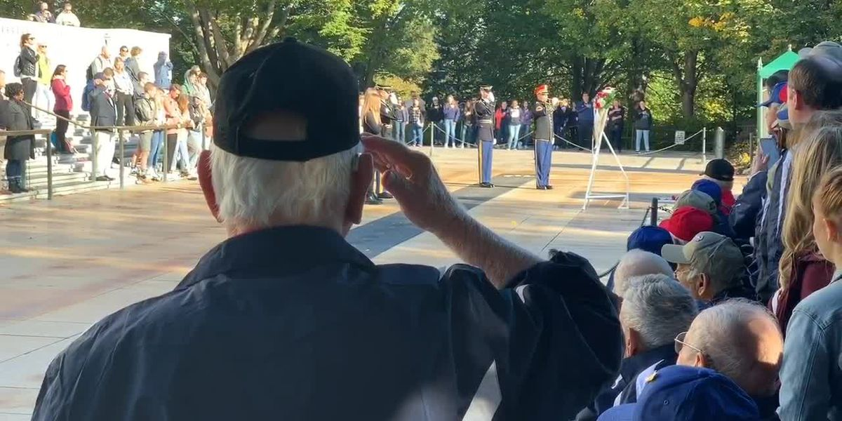 WEBXTRA: East Texas veterans observe Changing of the Guard at Arlington National Cemetery