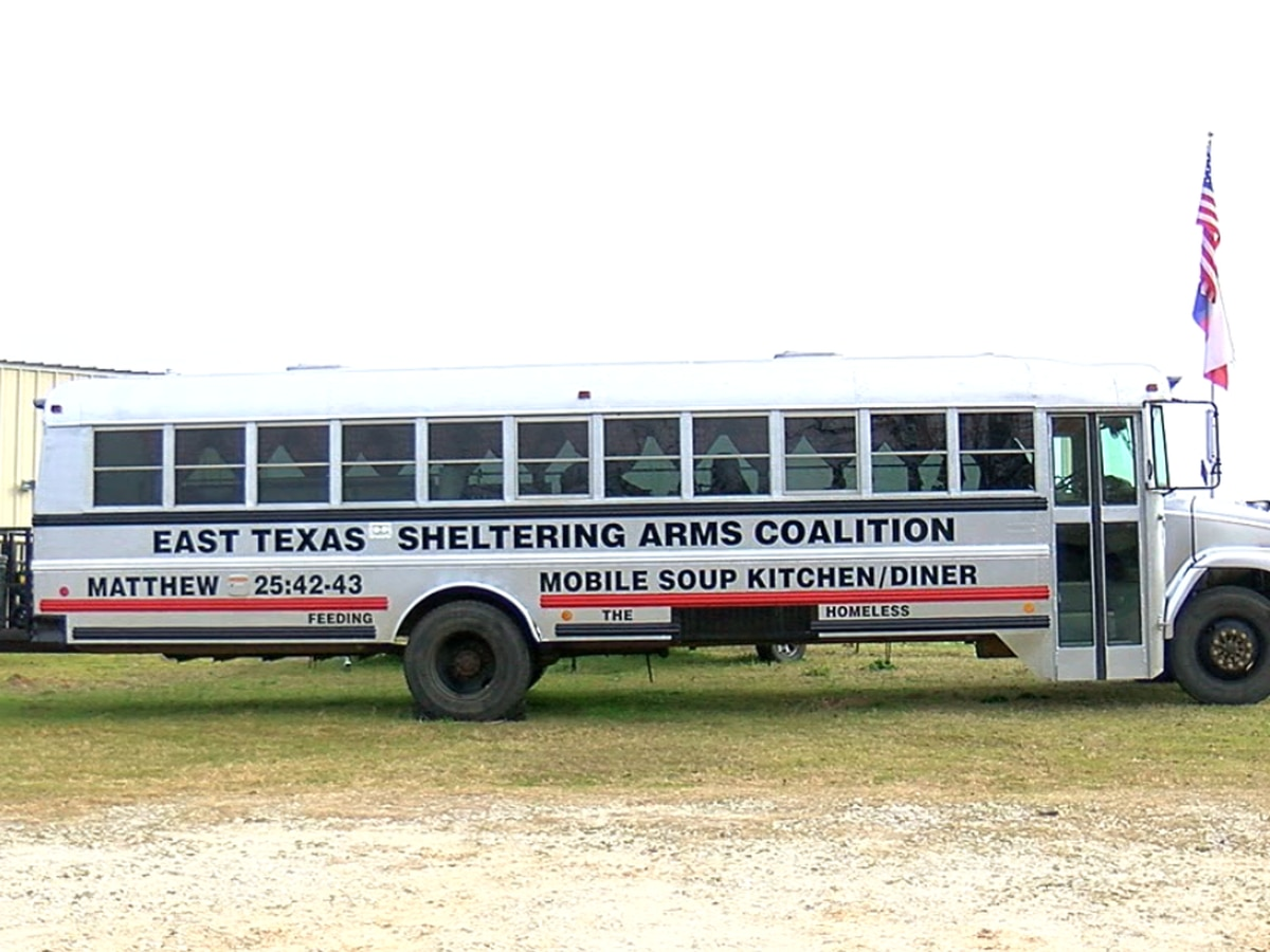 Local coalition transforms school bus into mobile soup kitchen and diner