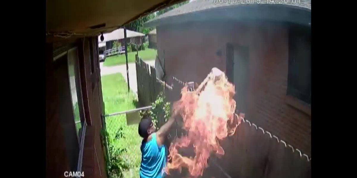 VIDEO: Oklahoma woman allegedly shoots at, sets home on fire