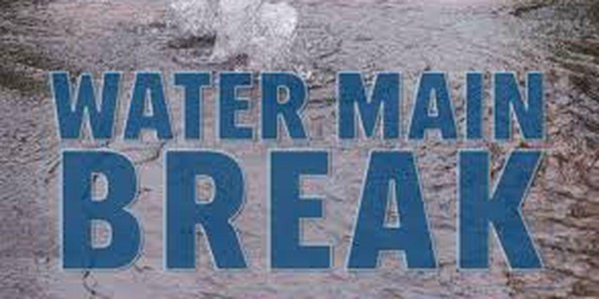 Water main break affecting service in Eustace