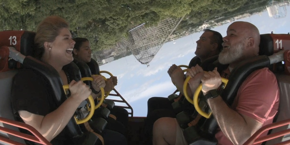 WATCH: We take Six Flags' 'El Diablo' coaster for a spin