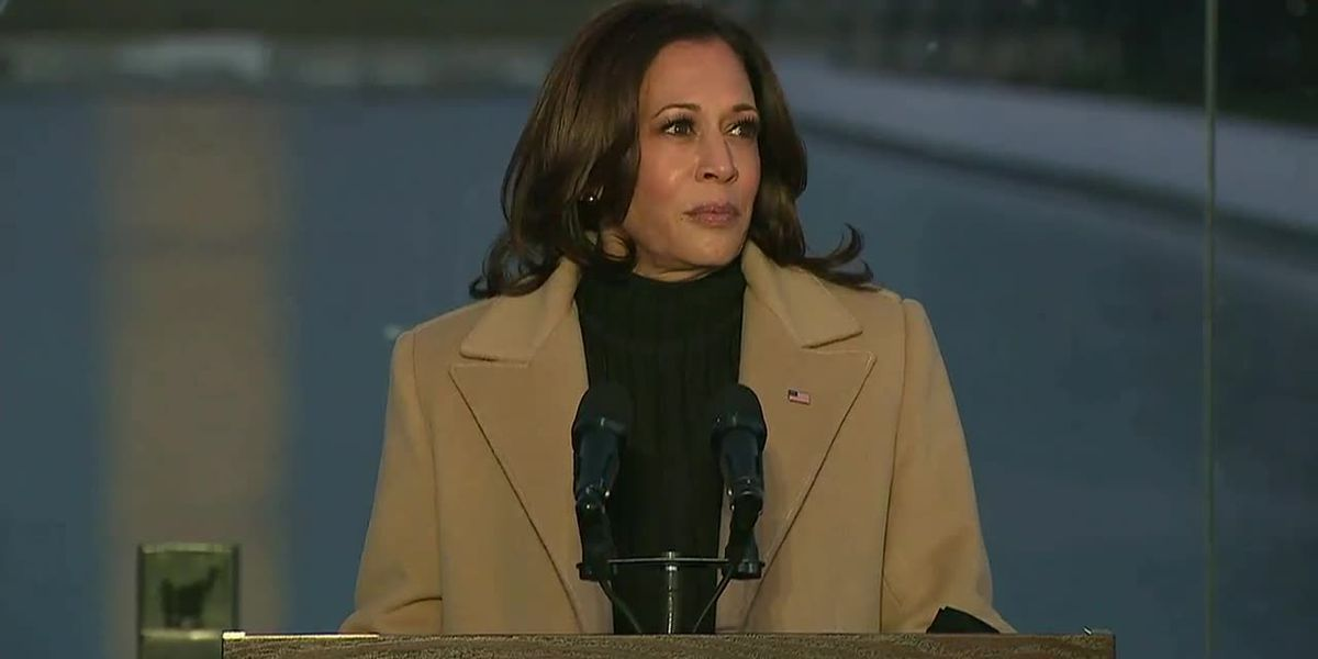 Kamala Harris pays tribute to those lost to COVID-19