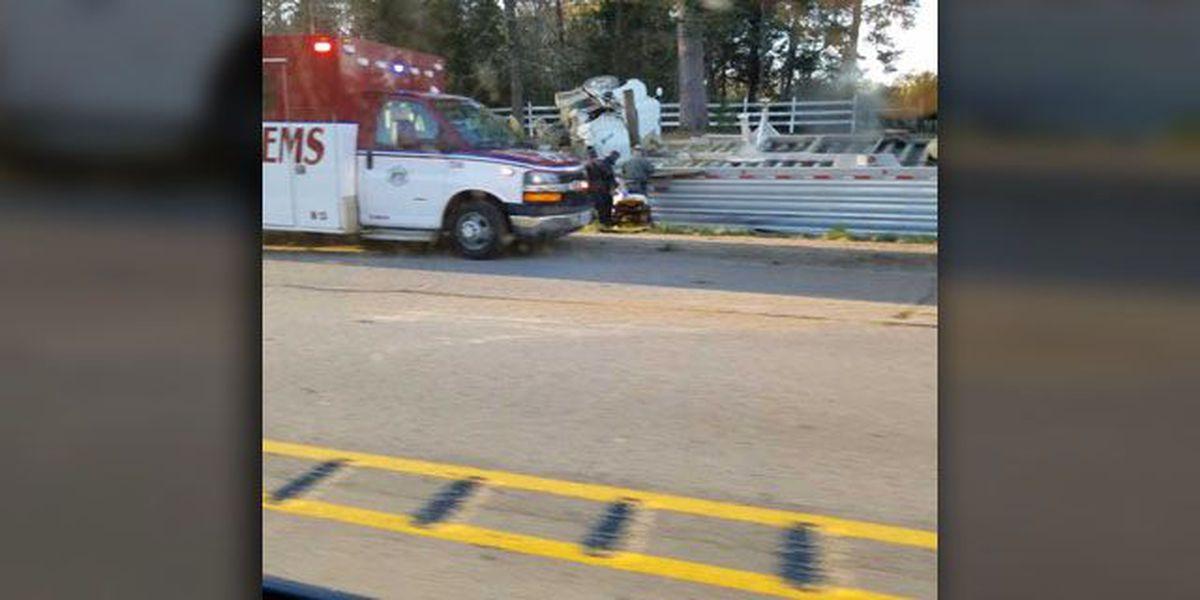 18-wheeler, car wreck blocks Hwy 64 in Ben Wheeler