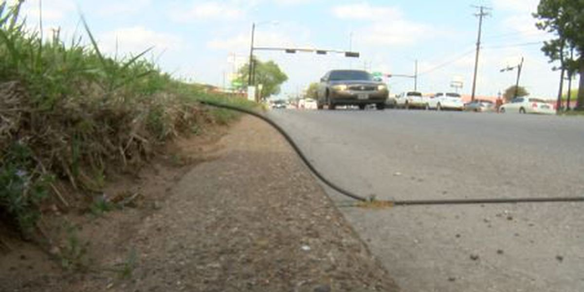 TxDOT places pneumatic tubes along roadways