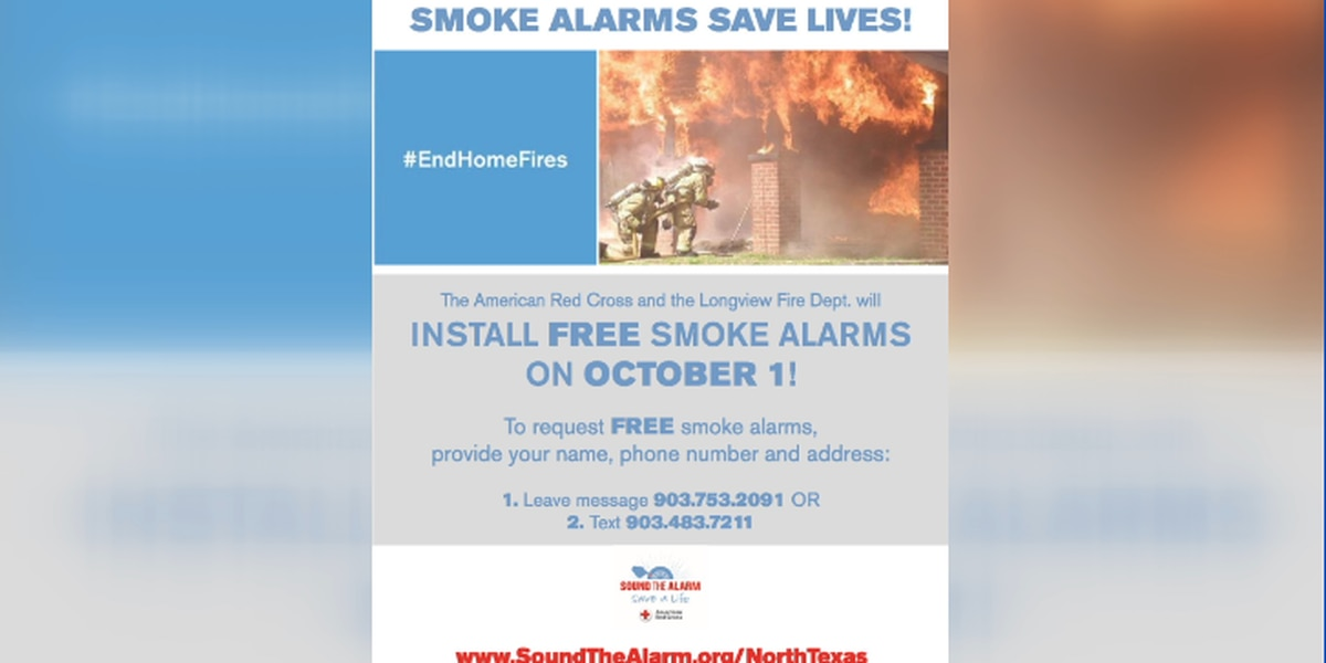 Longview firefighters, American Red Cross to install free smoke alarms for high-risk residents