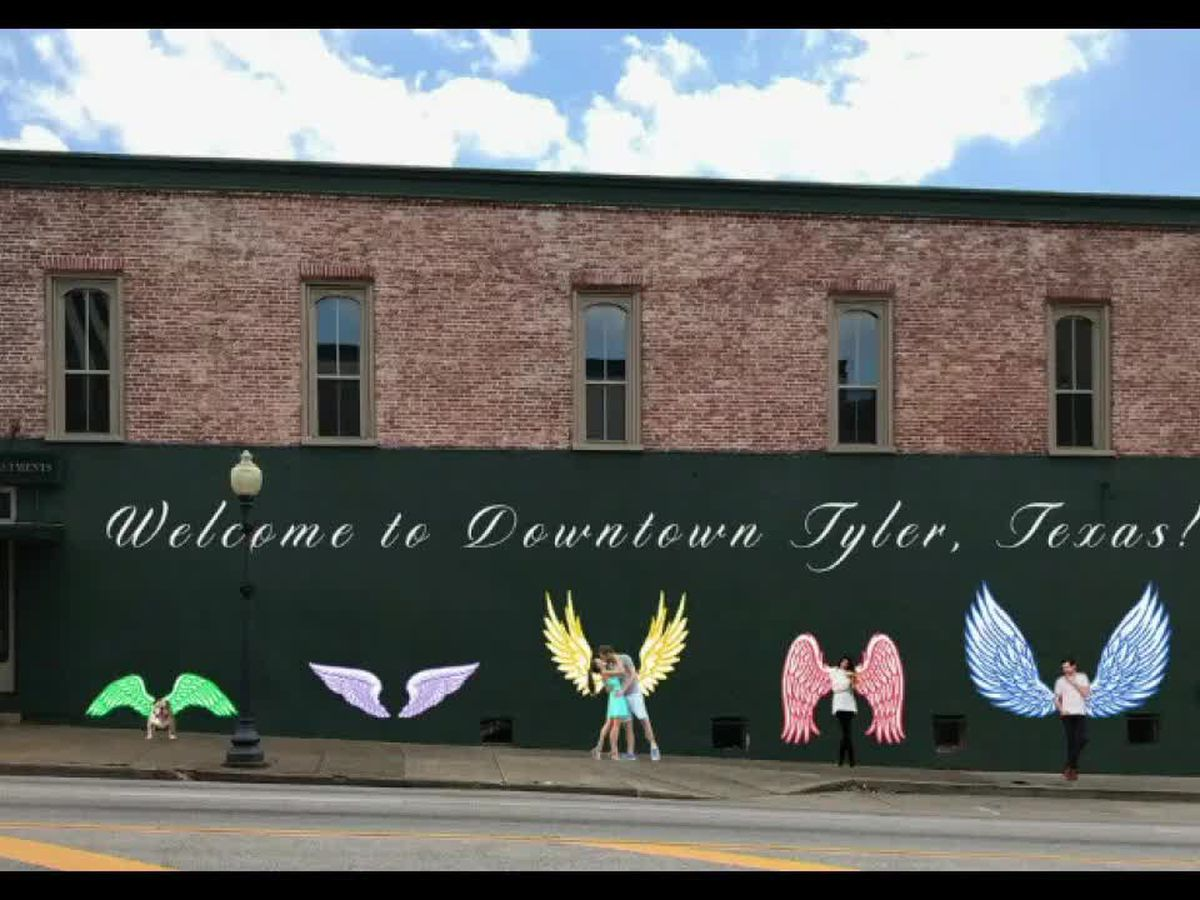 Artists get 'Wings of Tyler' interactive mural underway; completion set for September