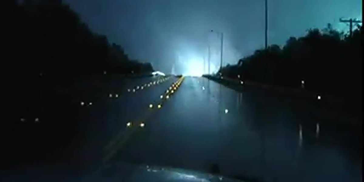 VIDEO: Kilgore police dashcam video shows aerial display as transformer blows