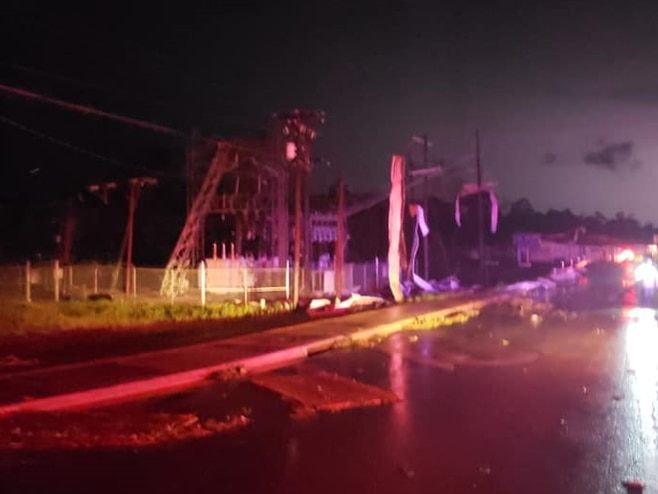 Damage, road closures reported in San Augustine Co. following storms, possible tornado
