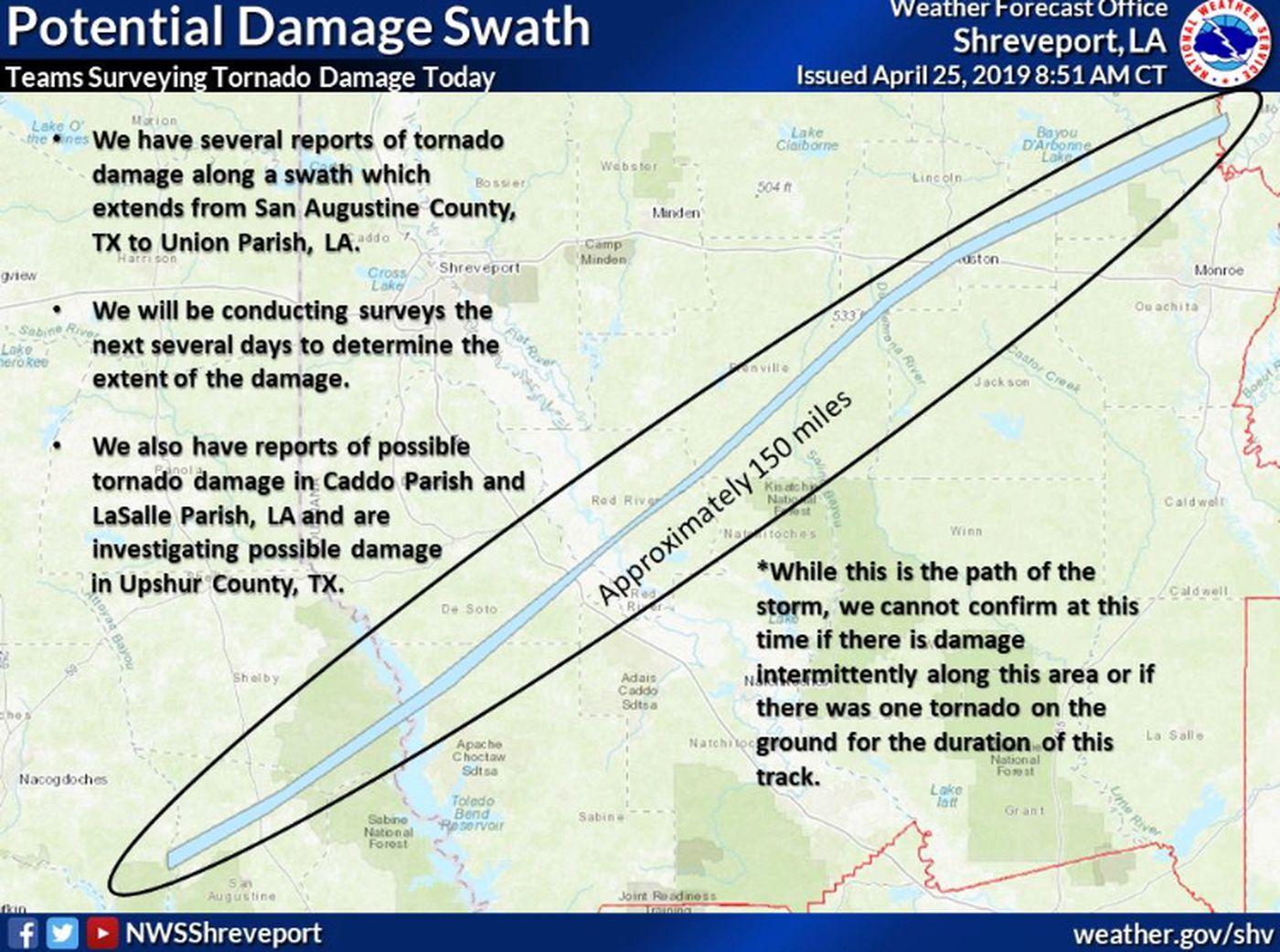 NWS preliminary report shows EF-2 tornado hit San Augustine area