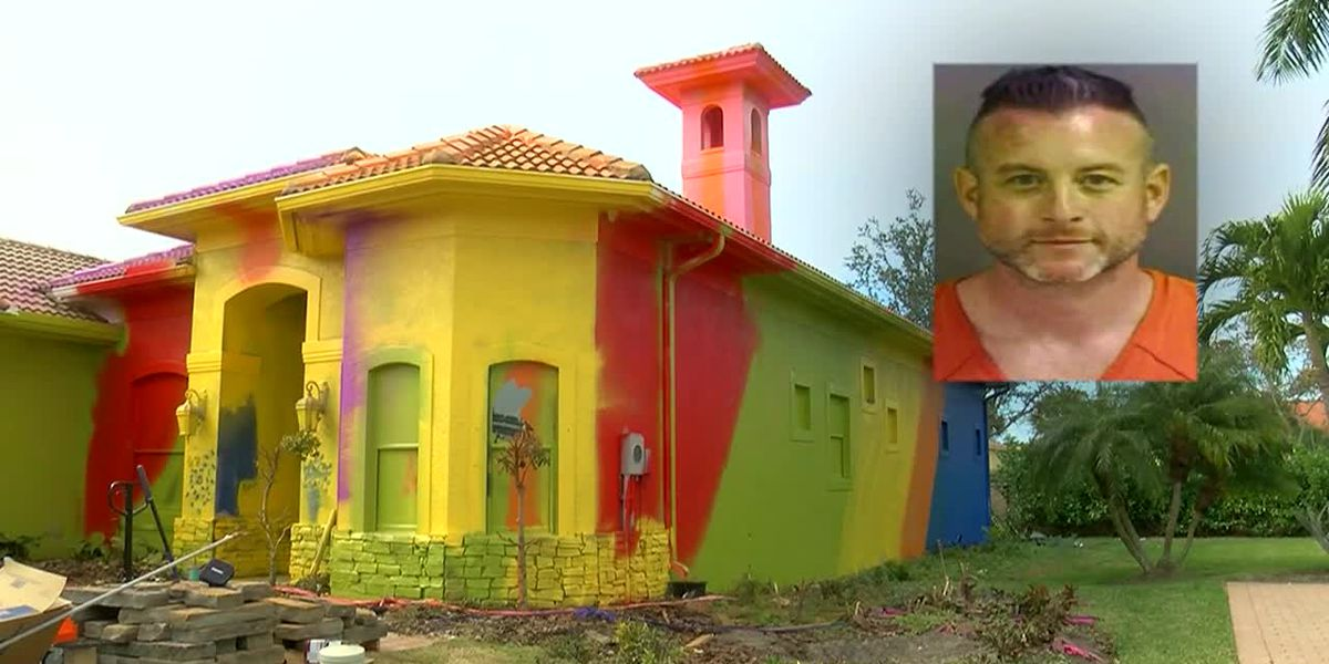 Florida man turns $500K home into technicolor nightmare
