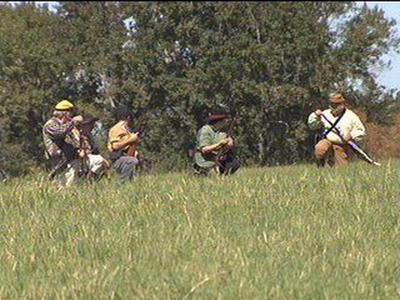 VIDEO: Camp Ford hosts Civil War reenactment