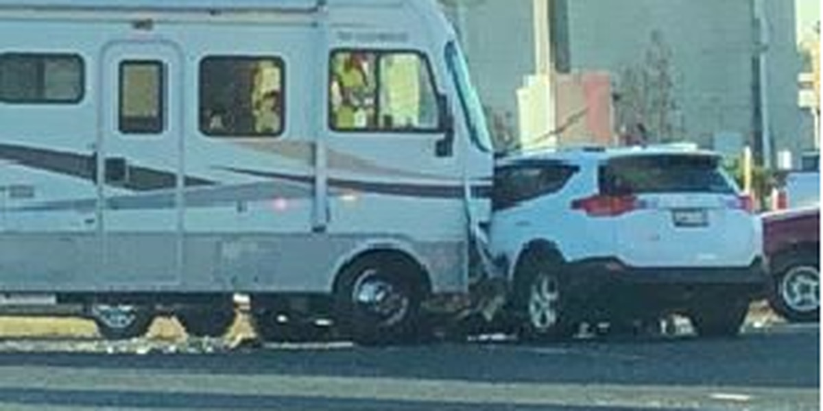 Driver taken to hospital with critical injuries after wreck involving motorhome in Longview