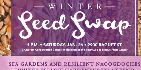 Jump start spring fever with SFA Gardens' Winter Seed Swap