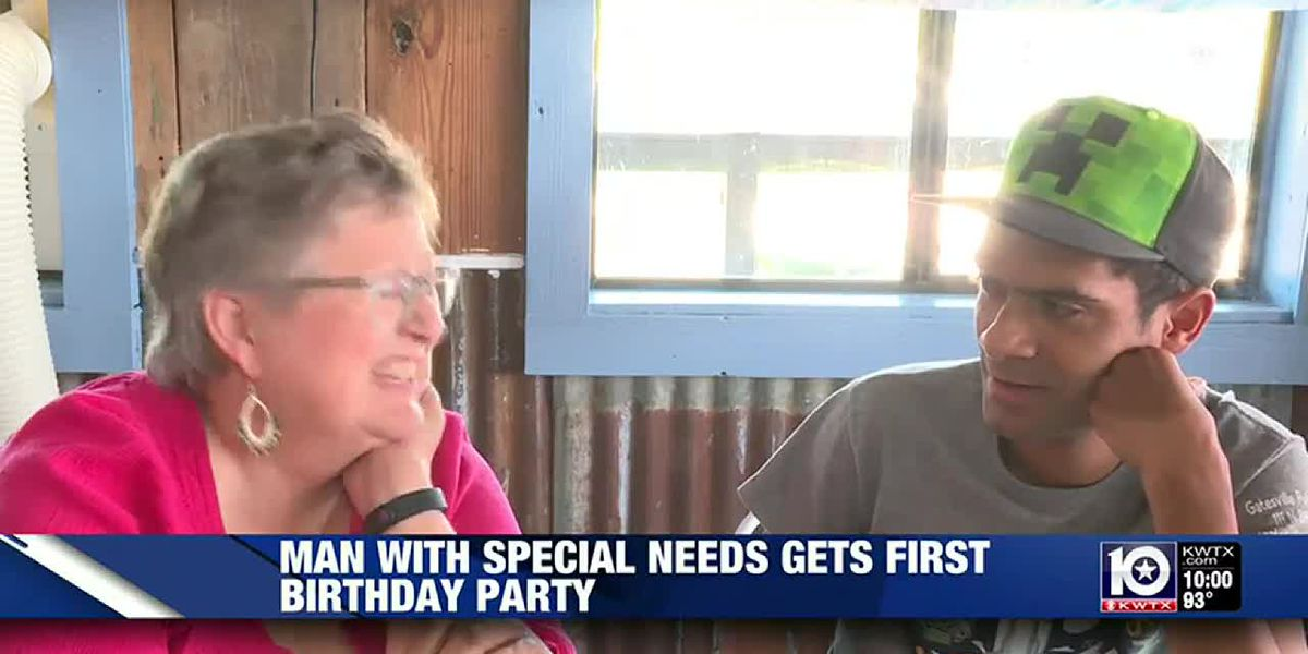 Man with special needs gets a new home and first ever birthday party