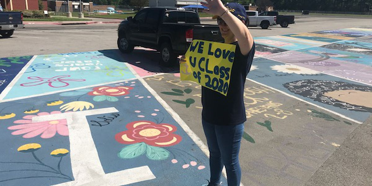 Pine Tree High School seniors met with encouraging messages at cap, gown pickup