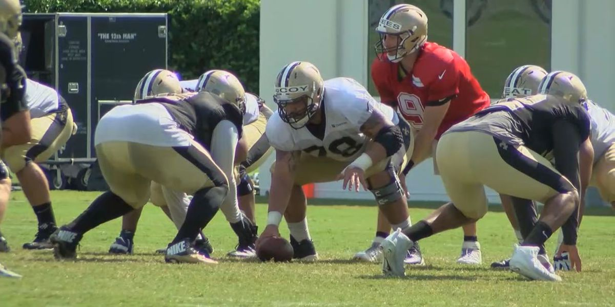 Erik McCoy learning all he can from veteran Brees