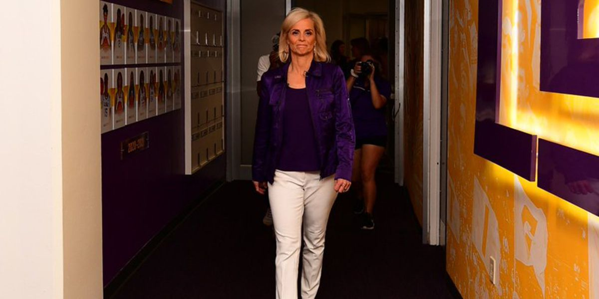 'I'm home' - Kim Mulkey speaks for first time as head coach of women's basketball team