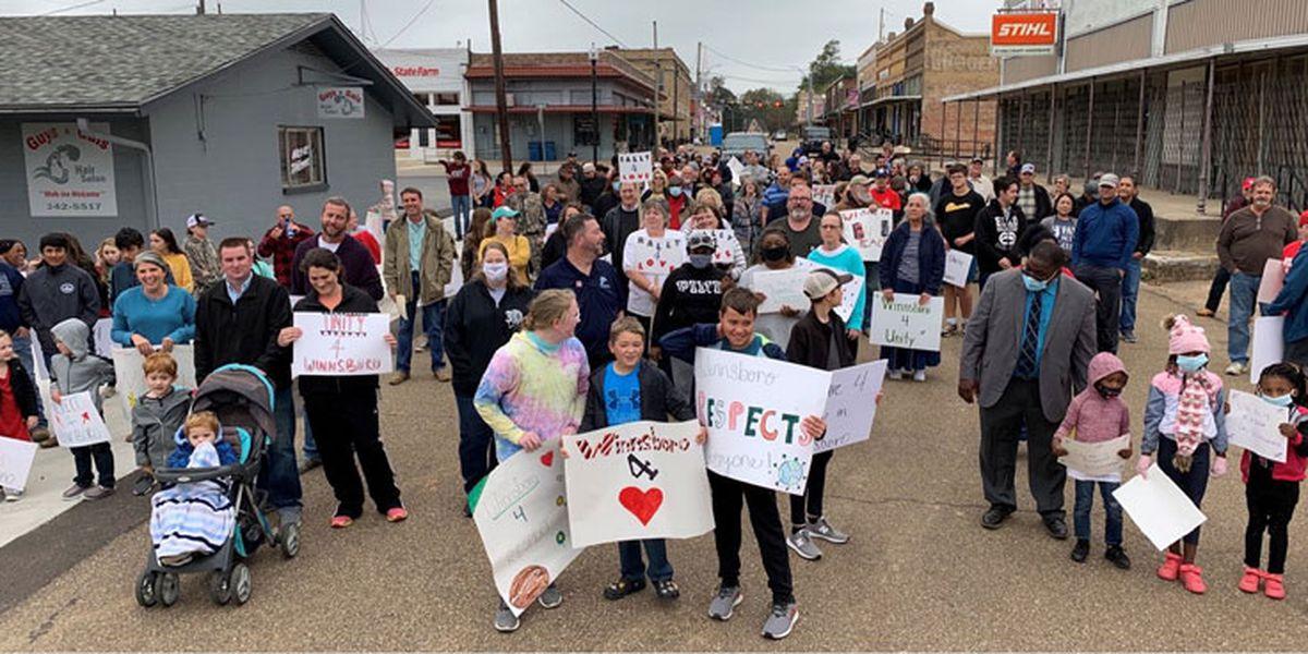 Multiple churches take part in first-ever prayer walk in Winnsboro