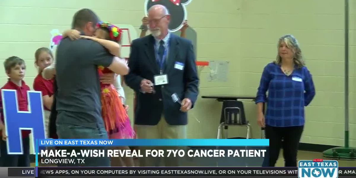WATCH: Make-A-Wish Foundation grants Longview elementary student's wish