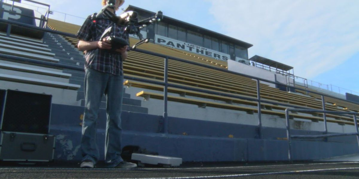 Lufkin tech students helping football team prepare for gameday