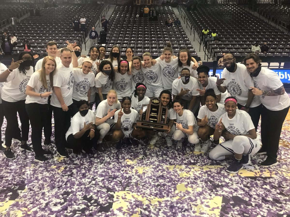 Ladyjacks chop down Demons to clinch SLC regular season title