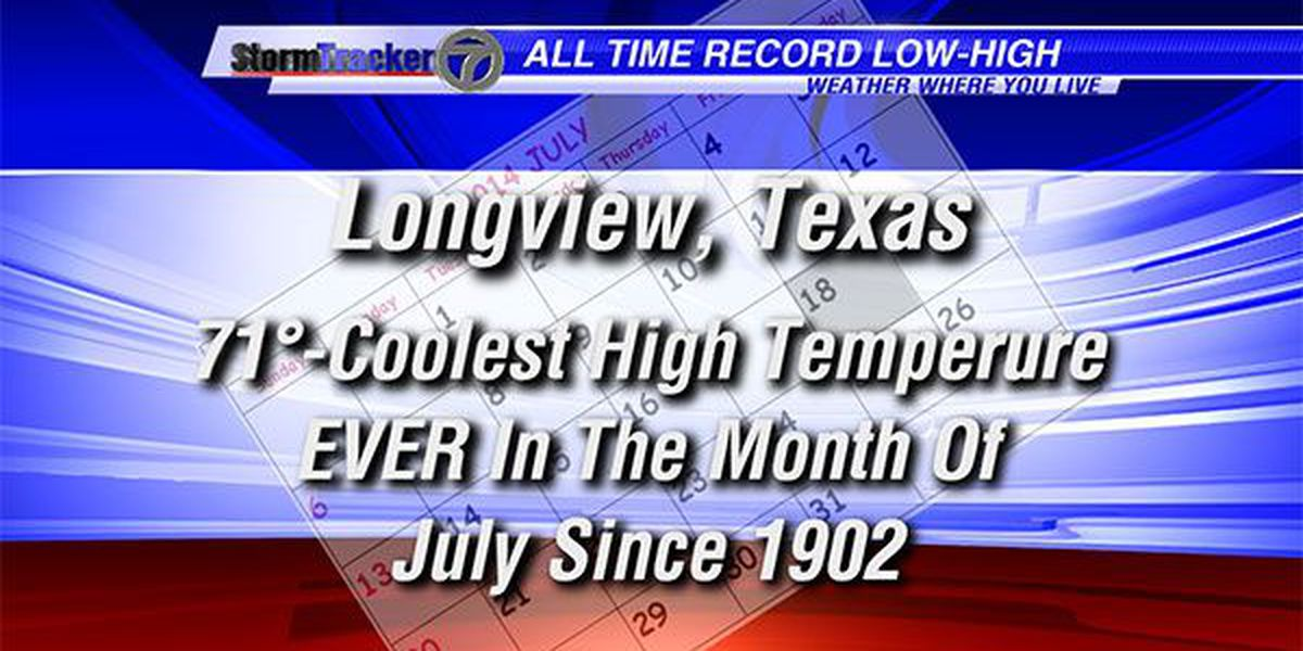 48 hours for the weather record books in East Texas