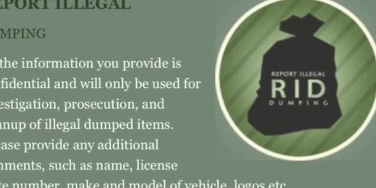 WEBXTRA: RID app helps East Texans report illegal dumping