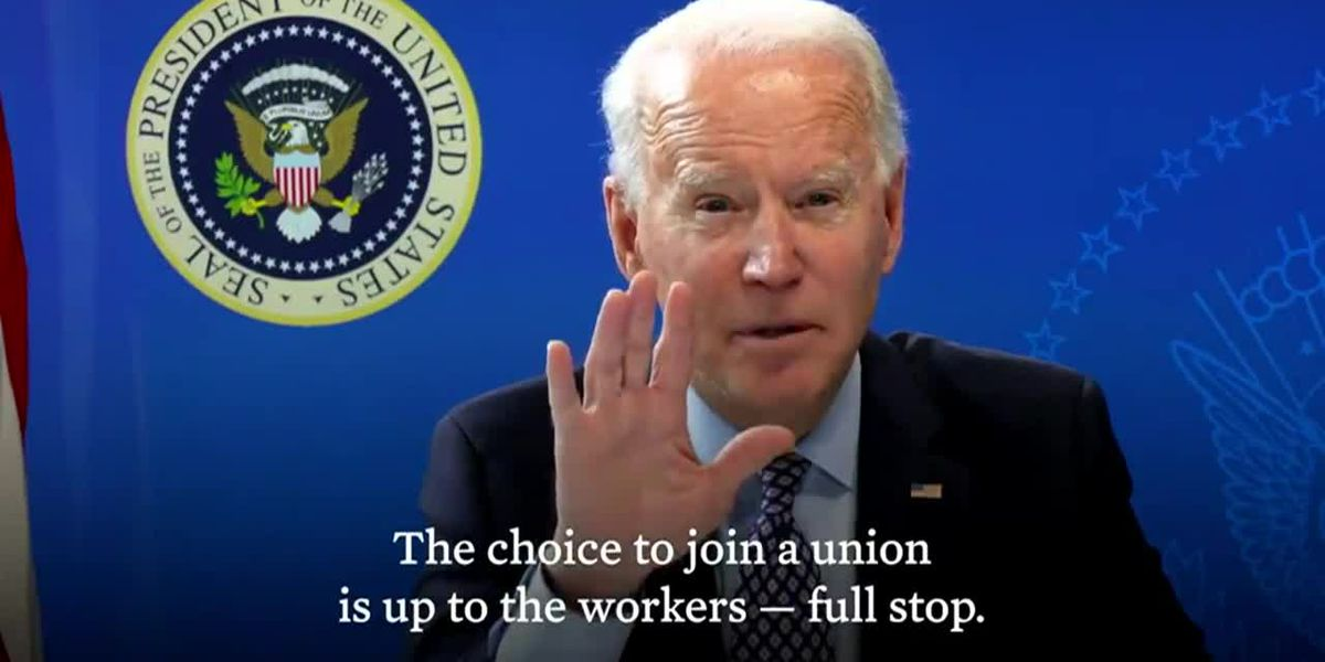 Biden supports freedom to choose amid Amazon union vote