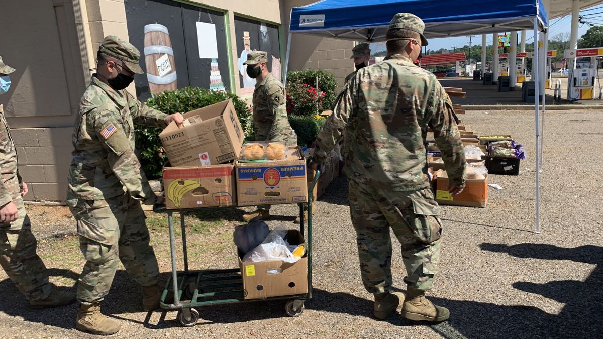 WEBXTRA: National Guard helps distribute food at Whitehouse Food Pantry