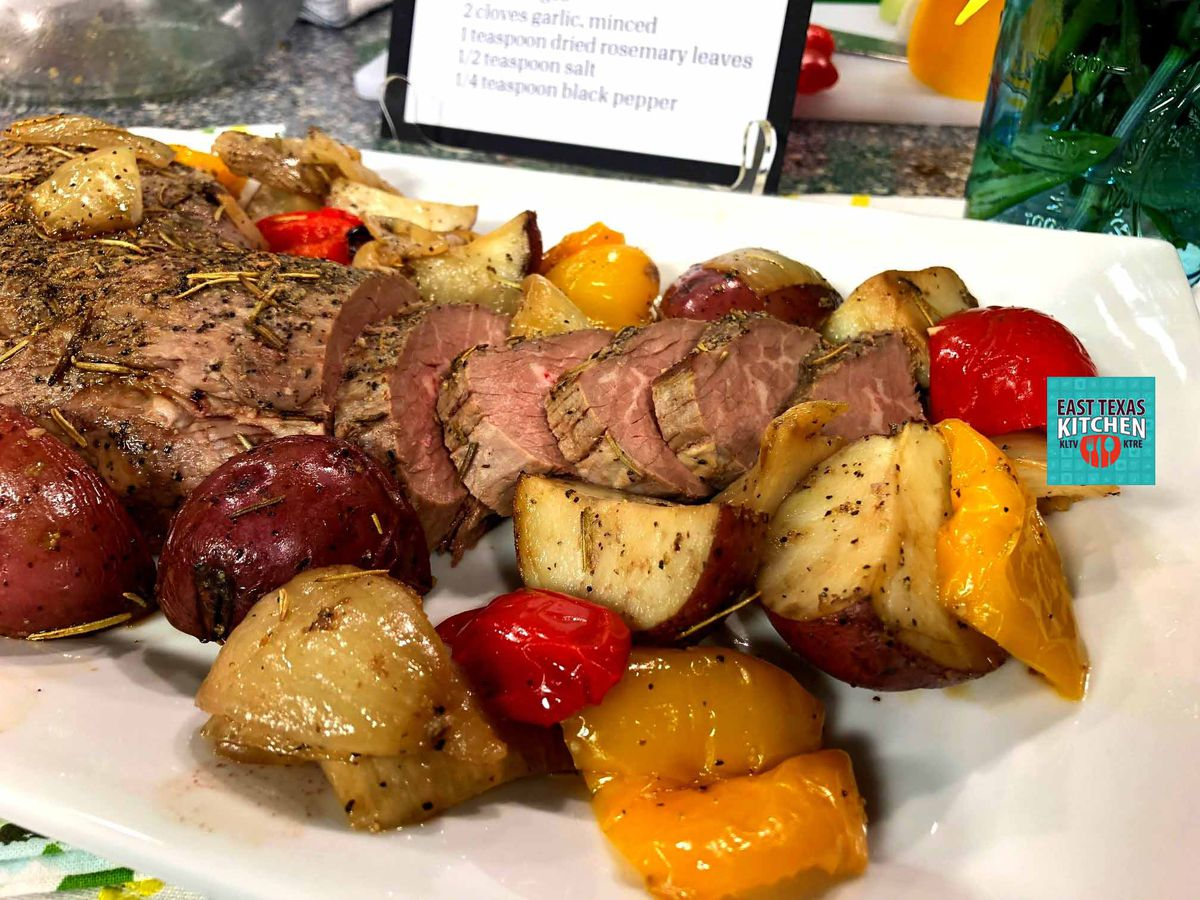 Tri-tip roast with Rosemary-garlic vegetables by Texas Beef Council