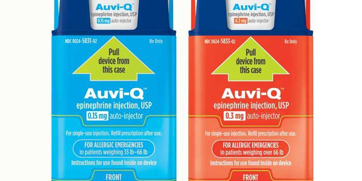 Recall on Auvi-Q epinephrine injections