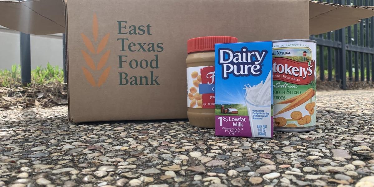 WEBXTRA: Food bank distributing emergency food boxes at Harvey Hall