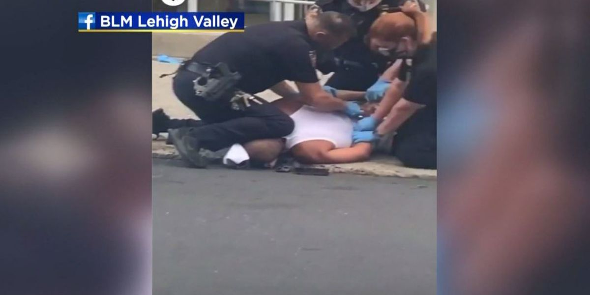 Graphic video that shows Pa. officer with knee on man's neck draws outrage, protests